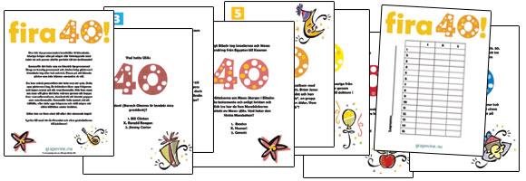 tips till 40 års fest 40 årsfest tipspromenad med tema 40 | grapevine.nu tips till 40 års fest